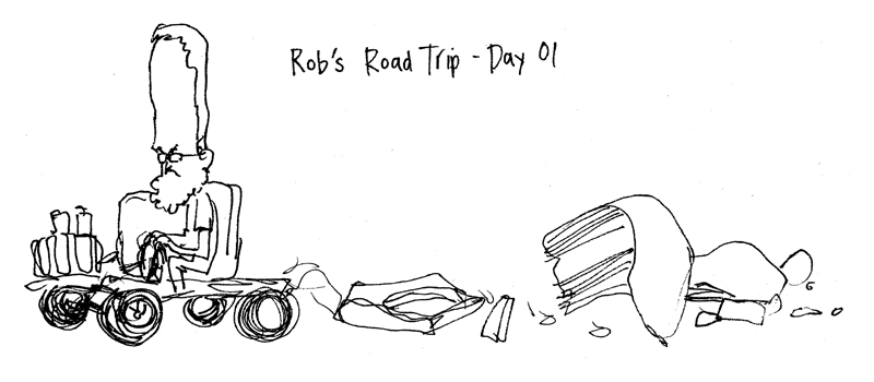 Rob's Road Trip Day 01 illustration