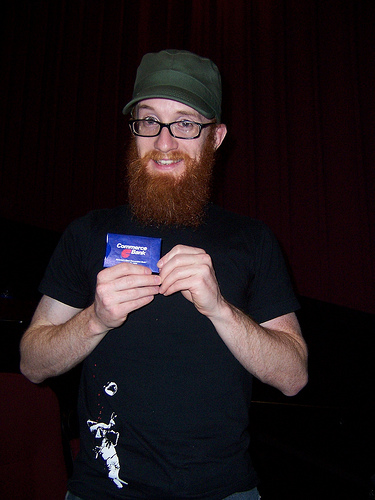Rob reunited with his card